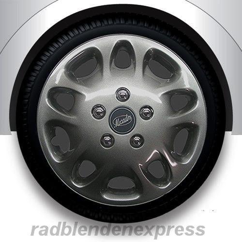 12 Wheel Covers : Wheel cover hub caps mecador dark chrome nuts inch ebay